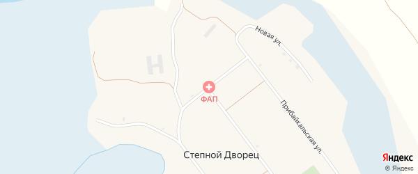 Молодежная улица на карте села Степного Дворца с номерами домов