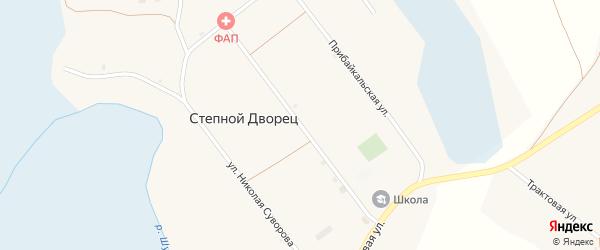 Партизанская улица на карте села Степного Дворца с номерами домов