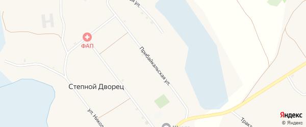 Прибайкальская улица на карте села Степного Дворца с номерами домов