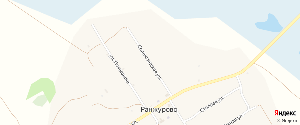 Селенгинская улица на карте улуса Ранжурово с номерами домов