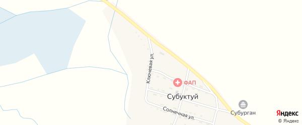 Ключевая улица на карте улуса Субуктуй с номерами домов