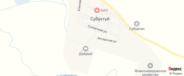 Ангарская улица на карте улуса Субуктуй с номерами домов