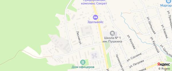 Улица Дынника на карте Кяхты с номерами домов