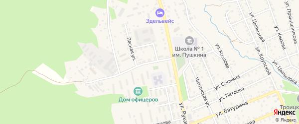 Лесная улица на карте Кяхты с номерами домов