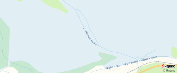 Карта местечка Никиткиной пади в Бурятии с улицами и номерами домов