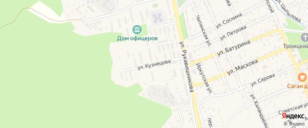 Улица Кузнецова на карте Кяхты с номерами домов