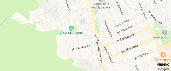 Улица Оганянца на карте Кяхты с номерами домов