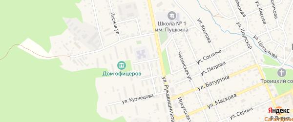 Улица Гармаева на карте Кяхты с номерами домов
