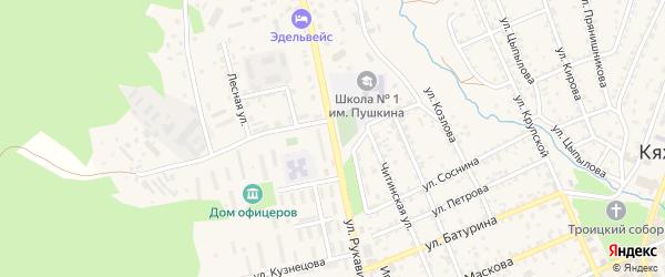 Улица Рукавишникова на карте Кяхты с номерами домов