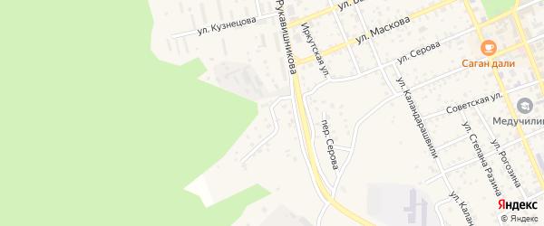 Кирзаводская улица на карте Кяхты с номерами домов