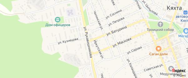 Иркутская улица на карте Кяхты с номерами домов
