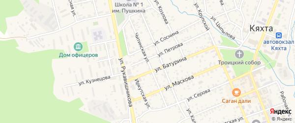Читинская улица на карте Кяхты с номерами домов