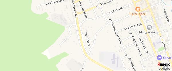Переулок Серова на карте Кяхты с номерами домов