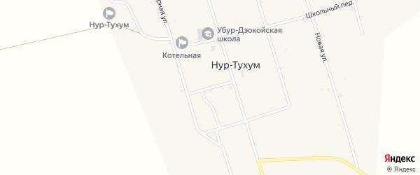 Почтовый переулок на карте улуса Нур-Тухум с номерами домов