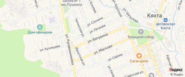 Улица Парижской Коммуны на карте Кяхты с номерами домов