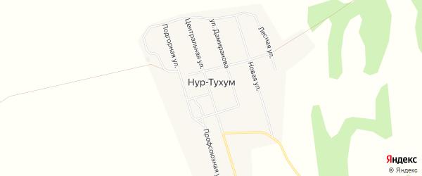 Карта улуса Нур-Тухум в Бурятии с улицами и номерами домов