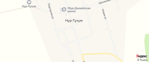 Центральная улица на карте улуса Нур-Тухум с номерами домов