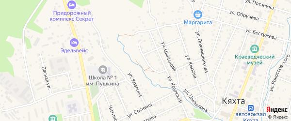 Комсомольская улица на карте Кяхты с номерами домов