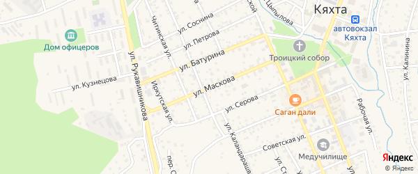 Улица Маскова на карте Кяхты с номерами домов