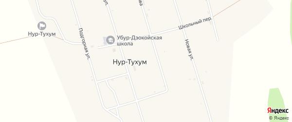 Школьный переулок на карте улуса Нур-Тухум с номерами домов