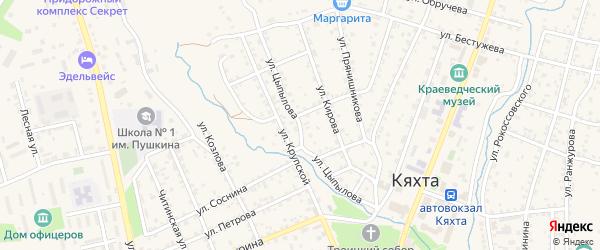Улица Цыпылова на карте Кяхты с номерами домов