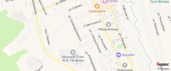 Владивостокская улица на карте Кяхты с номерами домов