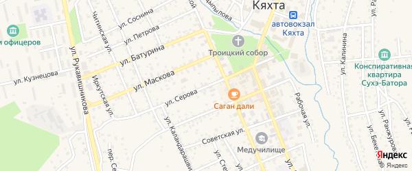 Улица Серова на карте Кяхты с номерами домов