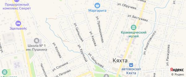 Улица Кирова на карте Кяхты с номерами домов