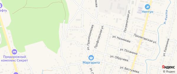 Улица Прянишникова на карте Кяхты с номерами домов