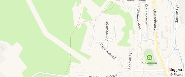 Строительная улица на карте Кяхты с номерами домов
