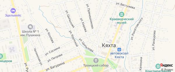 Нагорный переулок на карте Кяхты с номерами домов