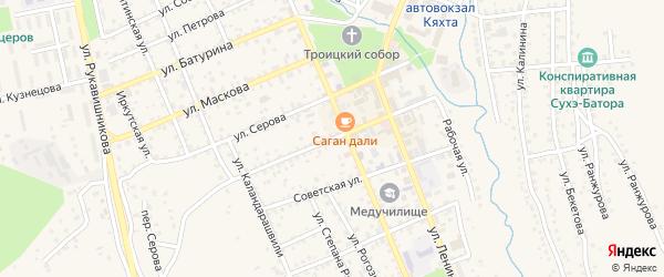 Улица Сергея Лазо на карте Кяхты с номерами домов