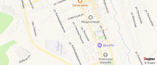 Улица Степана Разина на карте Кяхты с номерами домов