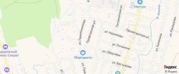 Профсоюзная улица на карте Кяхты с номерами домов
