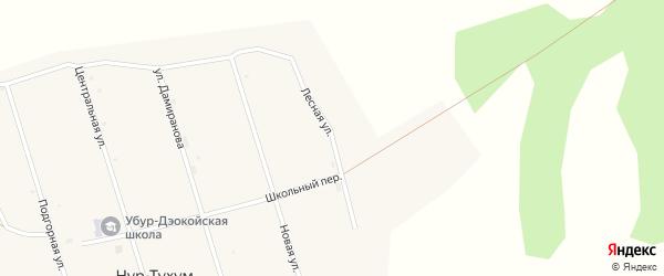 Лесная улица на карте улуса Нур-Тухум с номерами домов