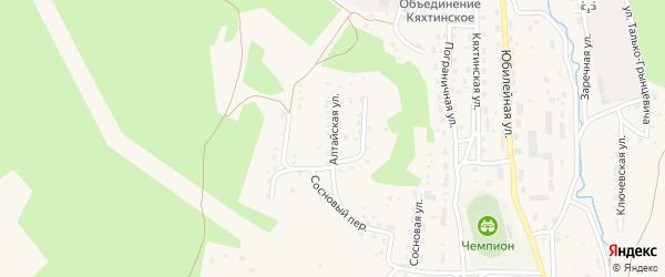 Алтайская улица на карте Кяхты с номерами домов