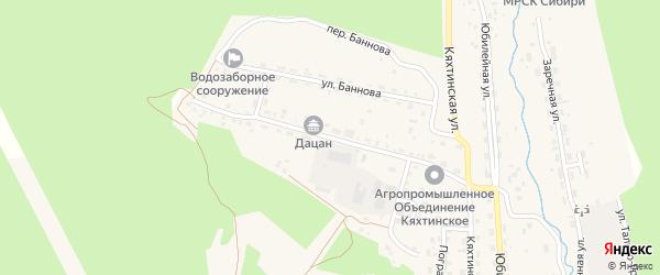 Заводская улица на карте Кяхты с номерами домов