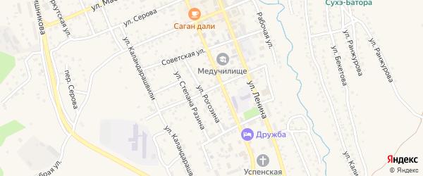 Улица Октябрьской Революции на карте Кяхты с номерами домов