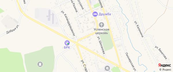 Южная улица на карте Кяхты с номерами домов