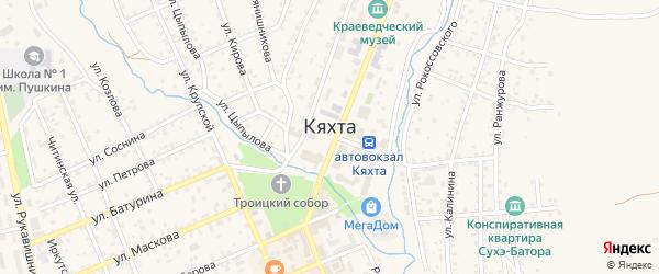 Восточная улица на карте Кяхты с номерами домов