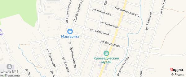 Улица Бестужева на карте Кяхты с номерами домов