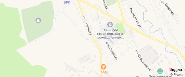 Улица Старчака на карте Кяхты с номерами домов