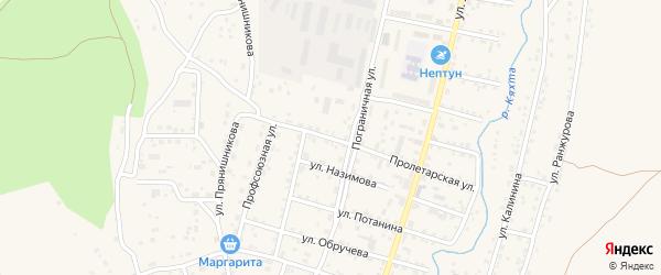Пролетарская улица на карте Кяхты с номерами домов