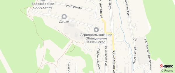 Заводской переулок на карте Кяхты с номерами домов