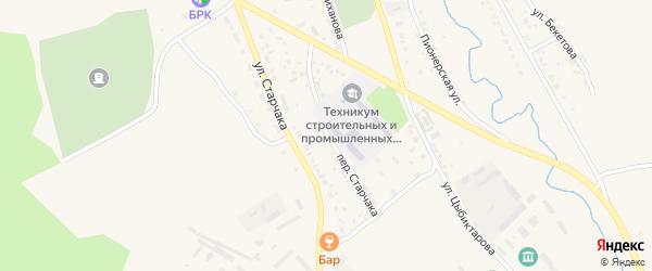 Переулок Старчака на карте Кяхты с номерами домов