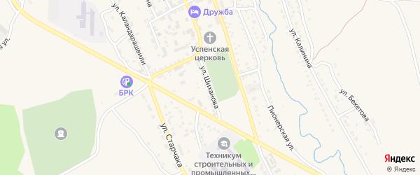 Улица Шиханова на карте Кяхты с номерами домов