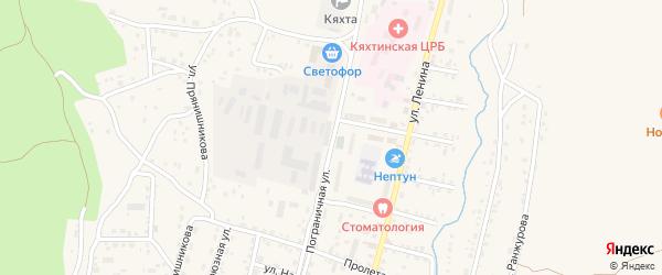 Пограничная улица на карте Кяхты с номерами домов