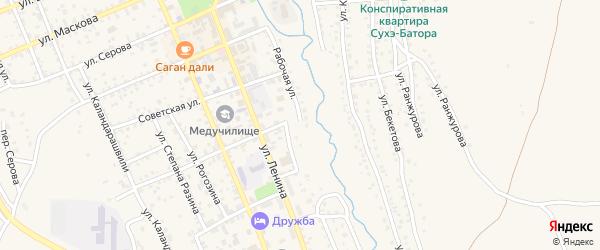Рабочая улица на карте Кяхты с номерами домов