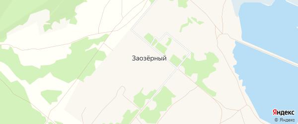 Карта Заозерного поселка города Гусиноозерска в Бурятии с улицами и номерами домов