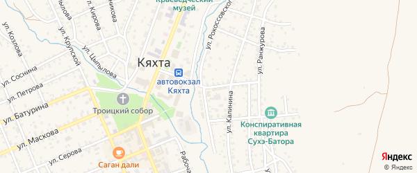 Улица Банзарова на карте Кяхты с номерами домов
